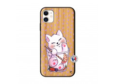 Coque iPhone 11 Smoothie Cat Bois Bamboo