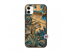 Coque iPhone 11 Leopard Jungle Bois Bamboo
