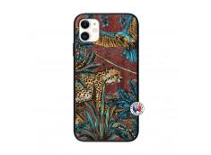 Coque iPhone 11 Leopard Jungle Bois Walnut