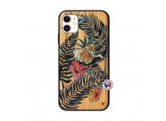 Coque iPhone 11 Leopard Tree Bois Bamboo