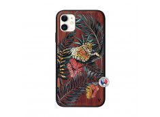 Coque iPhone 11 Leopard Tree Bois Walnut