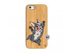 Coque iPhone 5/5S/SE Dog Impact Bois Bamboo