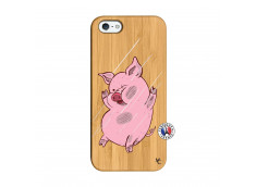Coque iPhone 5/5S/SE Pig Impact Bois Bamboo