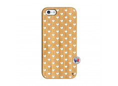 Coque iPhone 5/5S/SE Little Hearts Bois Bamboo