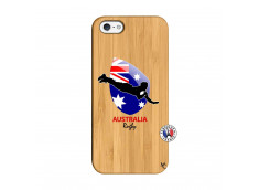Coque iPhone 5/5S/SE Coupe du Monde Rugby-Australia Bois Bamboo