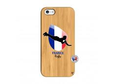 Coque iPhone 5/5S/SE Coupe du Monde de Rugby-France Bois Bamboo