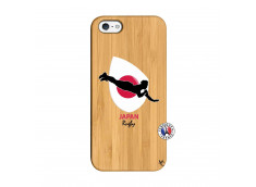 Coque iPhone 5/5S/SE Coupe du Monde Rugby-Japan Bois Bamboo