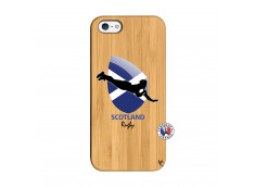 Coque iPhone 5/5S/SE Coupe du Monde Rugby-Scotland Bois Bamboo
