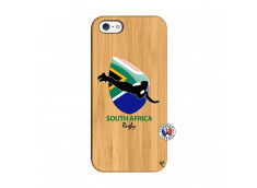 Coque iPhone 5/5S/SE Coupe du Monde Rugby-South Africa Bois Bamboo