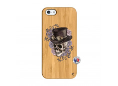 Coque iPhone 5/5S/SE Dandy Skull Bois Bamboo