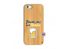 Coque iPhone 5/5S/SE Jamais Sans Ma Blonde Bois Bamboo