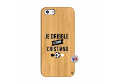Coque iPhone 5/5S/SE Je Dribble Comme Cristiano Bois Bamboo