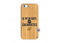 Coque iPhone 5/5S/SE Je M En Bas Les Cacahuetes Bois Bamboo