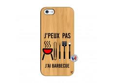 Coque Bois iPhone 5/5S/SE Je Peux Pas J Ai Barbecue