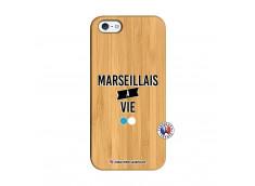 Coque iPhone 5/5S/SE Marseillais à Vie Bois Bamboo