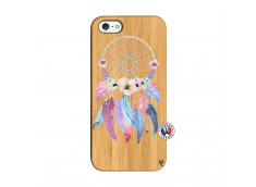 Coque iPhone 5/5S/SE Multicolor Watercolor Floral Dreamcatcher Bois Bamboo