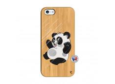 Coque iPhone 5/5S/SE Panda Impact Bois Bamboo