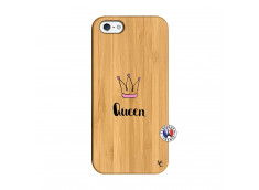 Coque iPhone 5/5S/SE Queen Bois Bamboo