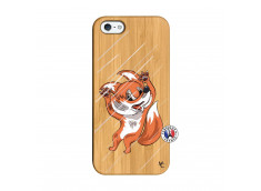 Coque iPhone 5/5S/SE Fox Impact Bois Bamboo