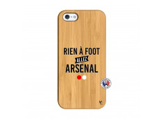 Coque iPhone 5/5S/SE Rien A Foot Allez Arsenal Bois Bamboo