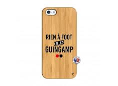 Coque iPhone 5/5S/SE Rien A Foot Allez Guingamp Bois Bamboo