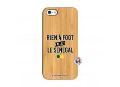 Coque iPhone 5/5S/SE Rien A Foot Allez Le Senegal Bois Bamboo