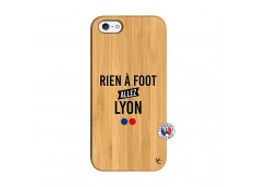 Coque iPhone 5/5S/SE Rien A Foot Allez Lyon Bois Bamboo