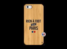 Coque iPhone 5/5S/SE Rien A Foot Allez Paris Bois Bamboo