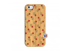 Coque iPhone 5/5S/SE Rose Pattern Bois Bamboo