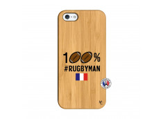 Coque iPhone 5/5S/SE 100% Rugbyman Bois Bamboo