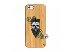 Coque iPhone 5/5S/SE Skull Hipster Bois Bamboo
