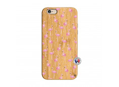 Coque Bois iPhone 6/6S Flamingo