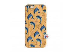 Coque Bois iPhone 6/6S Dauphins