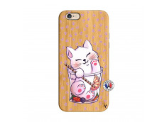 Coque Bois iPhone 6/6S Smoothie Cat