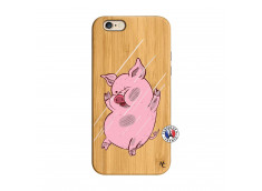 Coque iPhone 6/6S Pig Impact Bois Bamboo