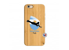 Coque iPhone 6/6S Coupe du Monde Rugby-Argentine Bois Bamboo
