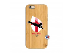 Coque iPhone 6/6S Coupe du Monde Rugby-England Bois Bamboo