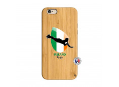 Coque iPhone 6/6S Coupe du Monde Rugby-Ireland Bois Bamboo