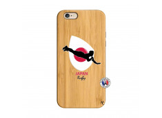 Coque iPhone 6/6S Coupe du Monde Rugby-Japan Bois Bamboo