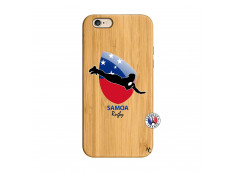 Coque iPhone 6/6S Coupe du Monde Rugby-Samoa Bois Bamboo