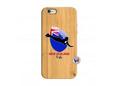 Coque iPhone 6/6S Coupe du Monde Rugby- Nouvelle Zélande Bois Bamboo