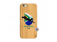 Coque iPhone 6/6S Coupe du Monde Rugby-South Africa Bois Bamboo