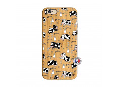 Coque iPhone 6/6S Cow Pattern Bois Bamboo