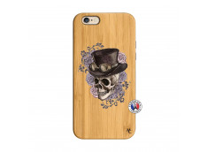 Coque iPhone 6/6S Dandy Skull Bois Bamboo