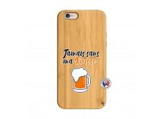 Coque iPhone 6/6S Jamais Sans Ma Rousse Bois Bamboo