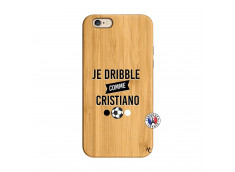 Coque iPhone 6/6S Je Dribble Comme Cristiano Bois Bamboo