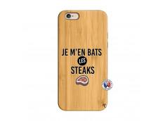Coque iPhone 6/6S Je M En Bas Les Steaks Bois Bamboo