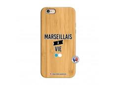 Coque iPhone 6/6S Marseillais à Vie Bois Bamboo