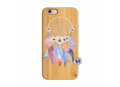 Coque iPhone 6/6S Multicolor Watercolor Floral Dreamcatcher Bois Bamboo