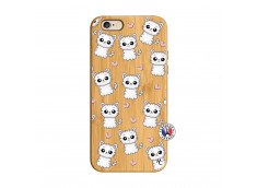 Coque iPhone 6/6S Petits Chats Bois Bamboo